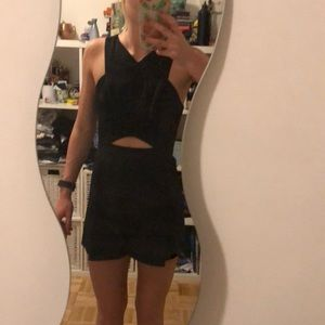 Topshop Romper in black with cutout